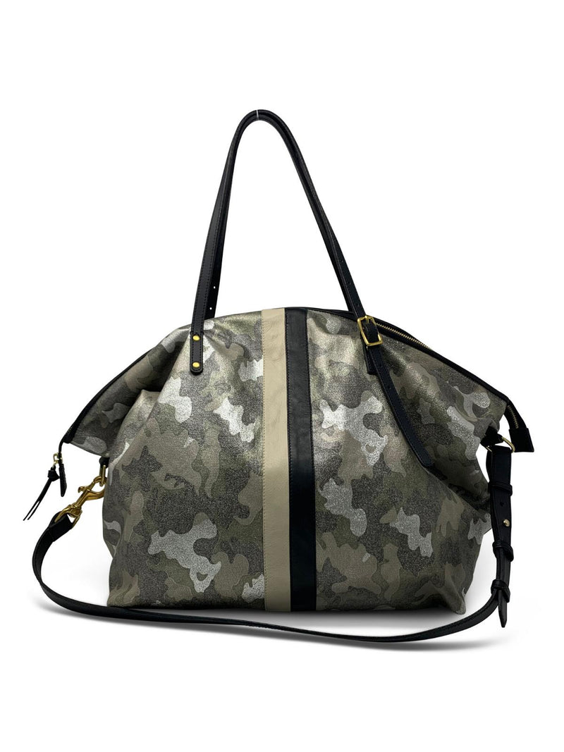 Metallic Camo Large Canvas Crossbody