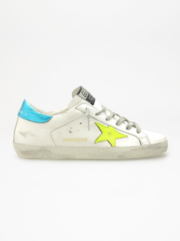 *PRE-ORDER* Superstar Sneakers - White, Yellow & Turquoise-Golden Goose Deluxe Brand-Tucci Boutique