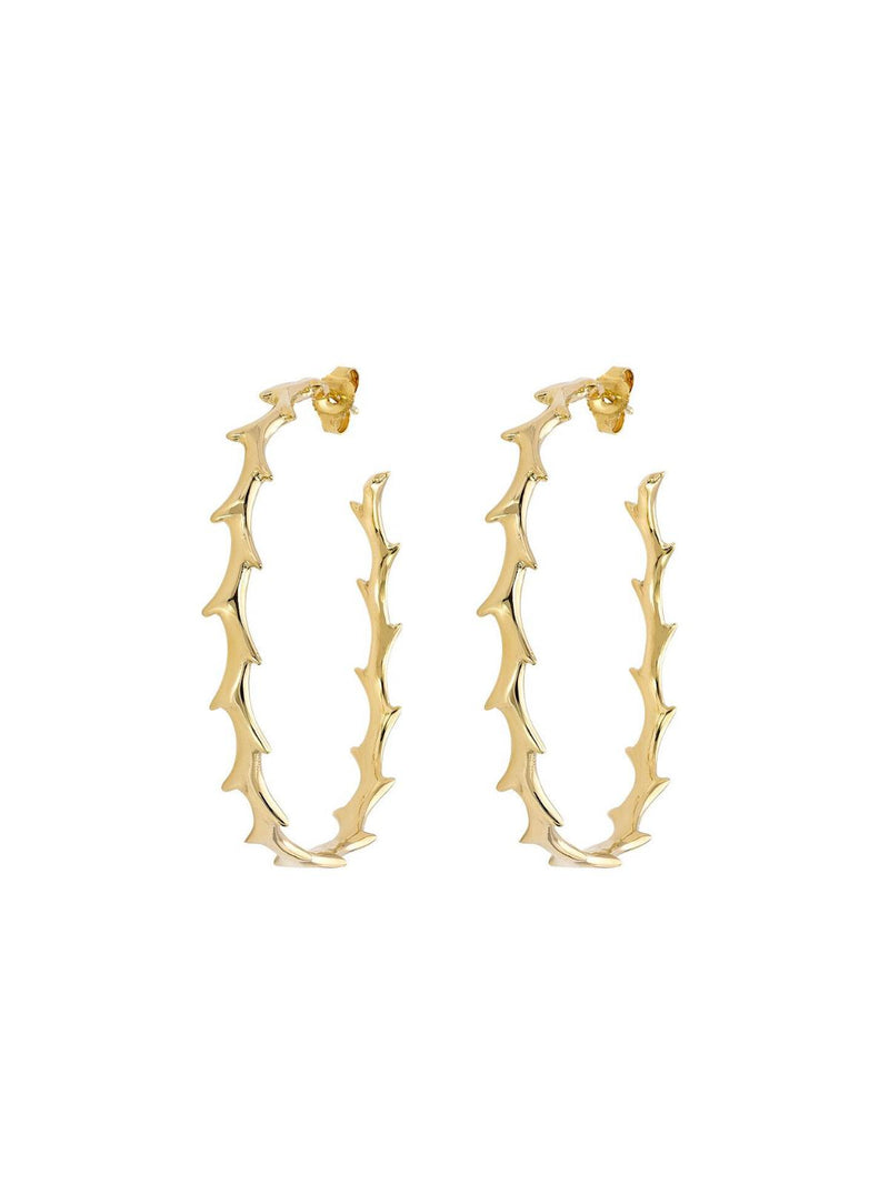 Crown of Thorns Hoop Earrings-DRU.-Tucci Boutique