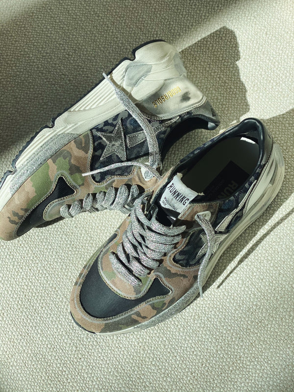 Running Sole Sneakers - Leopard & Camouflage