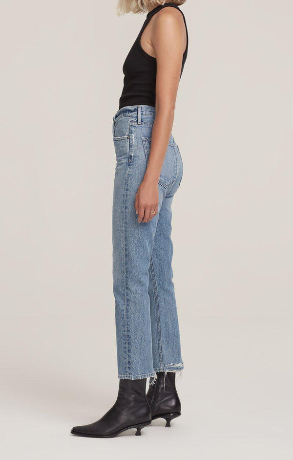 Riley High Rise Straight Denim - Emulsion-Agolde-Tucci Boutique