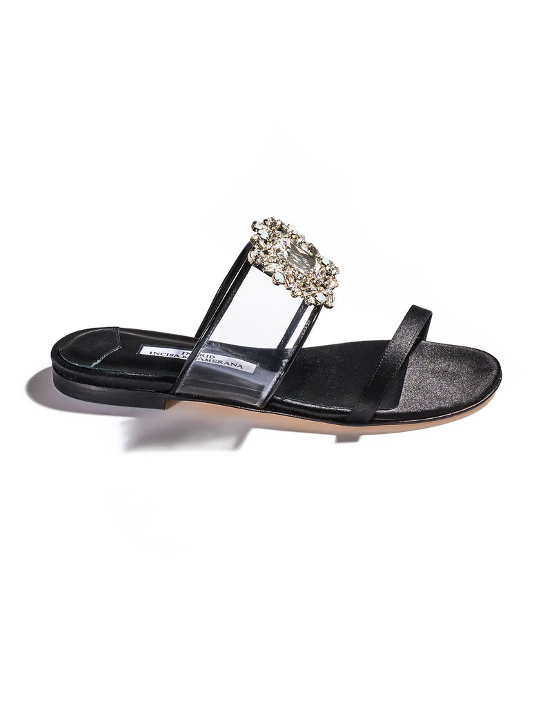 Alexandra Crystal Sandals - Black-Ingrid Incisa di Camerana-Tucci Boutique