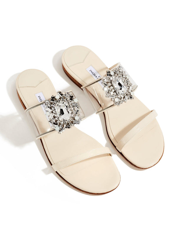 Alexandra Crystal Sandals - Bone-Ingrid Incisa di Camerana-Tucci Boutique