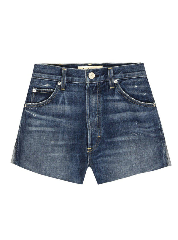 Classic Cut-Off Denim Shorts - Blue Bottle-AMO-Tucci Boutique