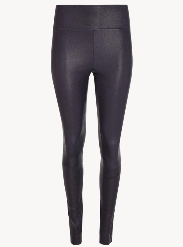 Leather Ankle Leggings - Navy-SPRWMN-Tucci Boutique