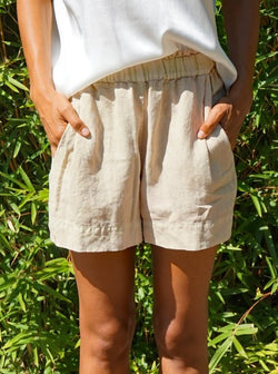 Dolly High Waist Short - Khaki-Aquarius Cocktail-Tucci Boutique