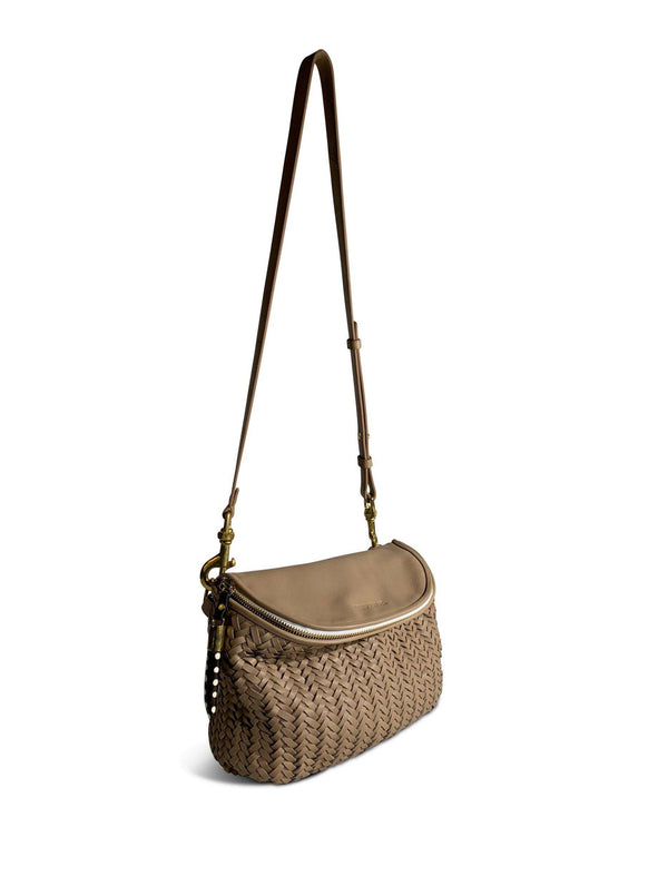 Basket Weave Mini Windbourne Handbag - Blush-Kempton & Co-Tucci Boutique