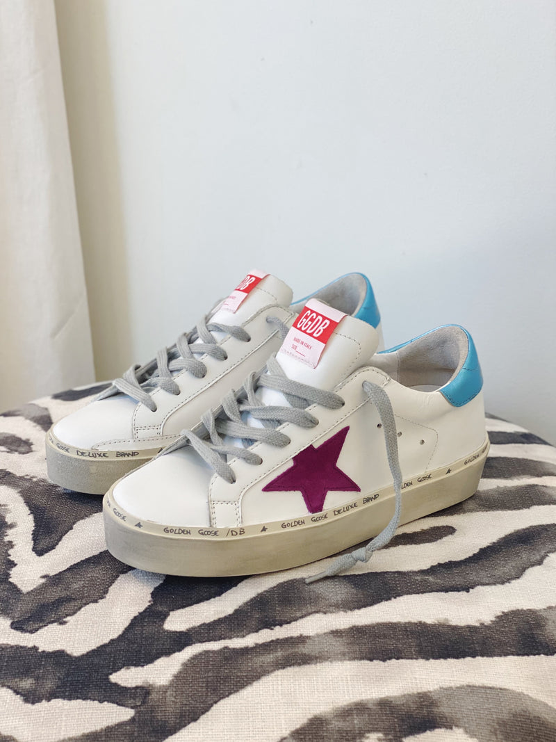 Hi Star Sneakers - White, Light Purple & Light Blue