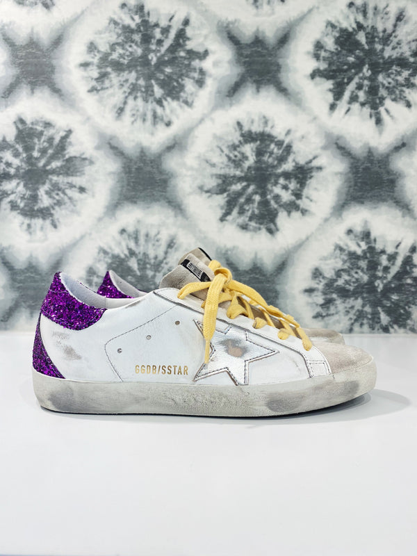 Superstar Sneakers - White, Ice, Silver & Purple