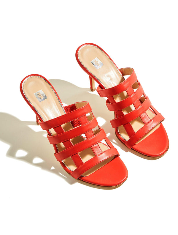 Clara Rosa Sandals - Orange-Ingrid Incisa di Camerana-Tucci Boutique
