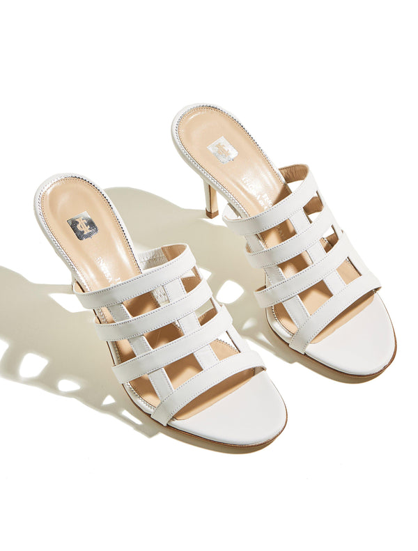Clara Rosa Sandals - White-Ingrid Incisa di Camerana-Tucci Boutique