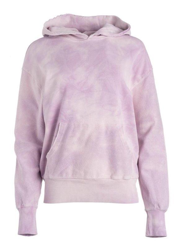 Tie Dye Frayed Hoodie - Pink-Dannijo-Tucci Boutique