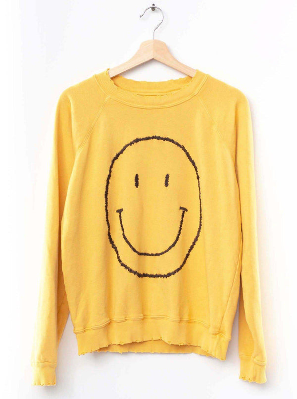 Big Smiley Face Sweatshirt-I Stole My Boyfriend's Shirt-Tucci Boutique