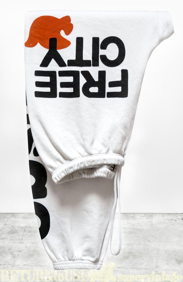 LETSGO OG SUPERVINTAGE Sweatpants - White Glow-Free City-Tucci Boutique