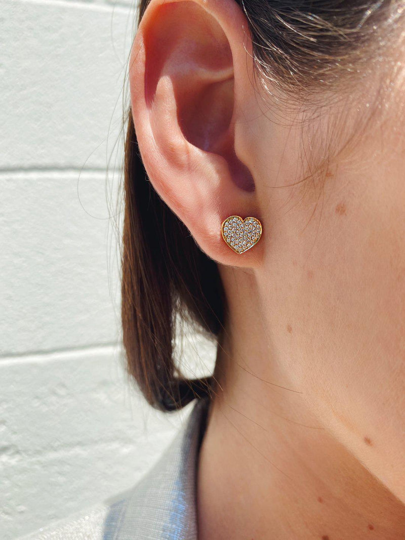 Piccolini Pavé Stud Earrings-Dolce Amore Ring by Paola Incisa di Camerana-Tucci Boutique