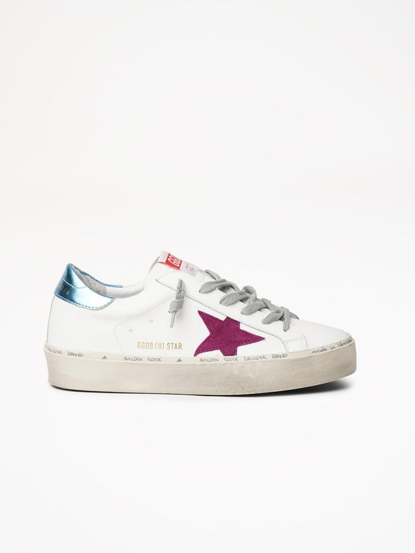 *Pre-Order* Hi Star Sneakers - White, Light Purple & Light Blue