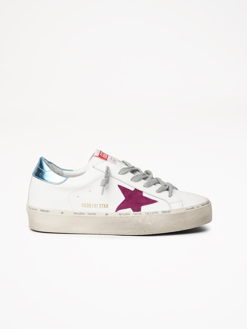 *Pre-Order* Hi Star Sneakers - White, Light Purple & Light Blue-Golden Goose Deluxe Brand-Tucci Boutique