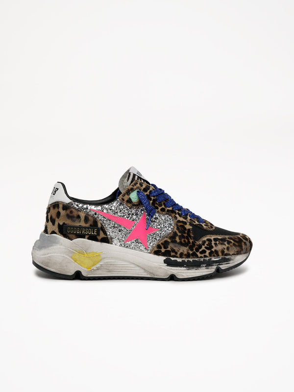 *Pre-Order* Running Sole Sneakers - Horsy Leopard-Golden Goose Deluxe Brand-Tucci Boutique