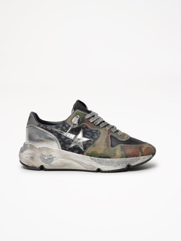 *Pre-Order* Running Sole Sneakers - Leopard & Camouflage-Golden Goose Deluxe Brand-Tucci Boutique