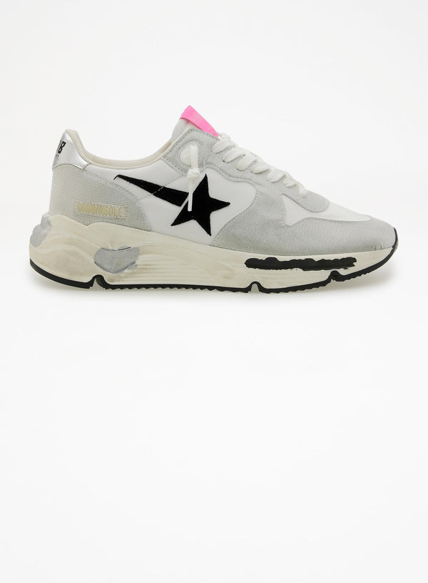 Running Sole Sneakers - Silver, White & Black-Golden Goose Deluxe Brand-Tucci Boutique