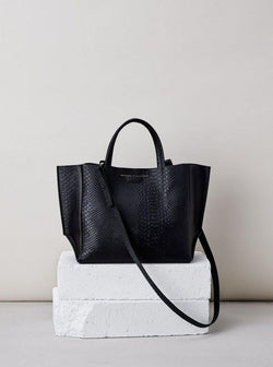 *PRE-ORDER* Half Tote - Black Python-Ampersand as Apostrophe-Tucci Boutique