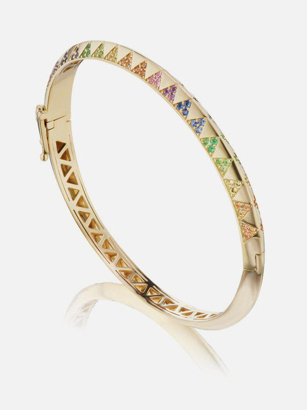 Knife Edge Rainbow Bangle-Harwell Godfrey-Tucci Boutique