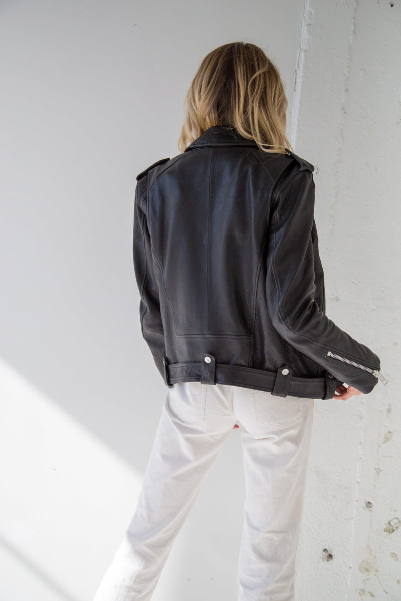 Vega Leather Jacket - Black-CPHLA-Tucci Boutique