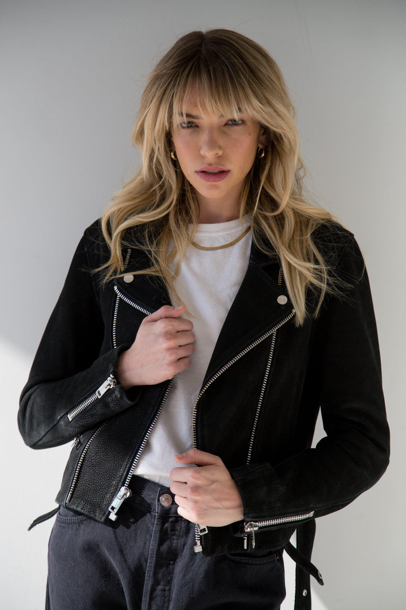 Astrid Leather Jacket - Black-CPHLA-Tucci Boutique