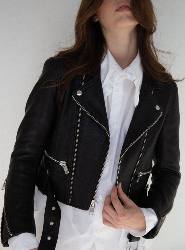 Iben Leather Jacket - Black-CPHLA-Tucci Boutique