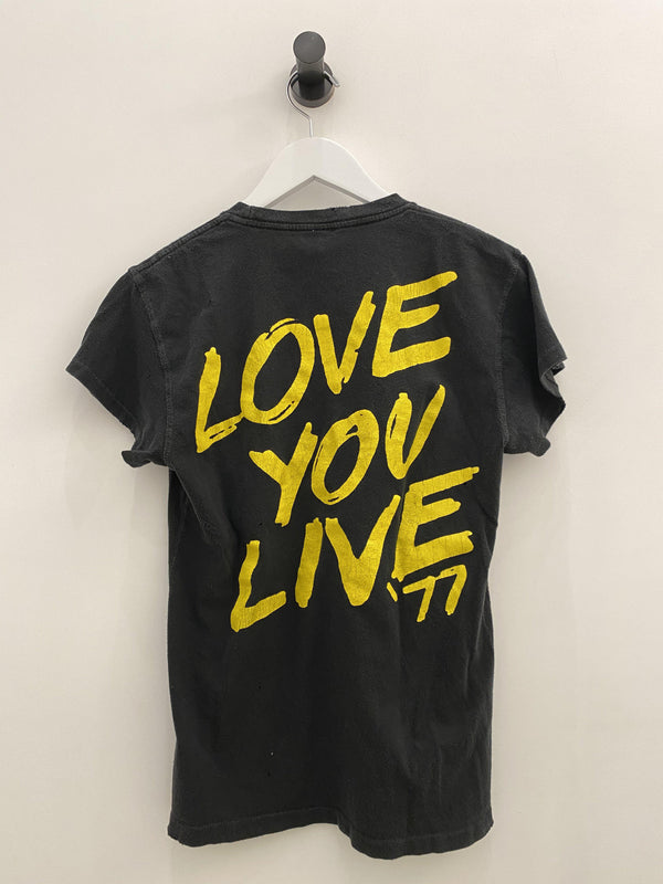 Rolling Stones Love You Live '77 Crew Tee-MadeWorn-Tucci Boutique
