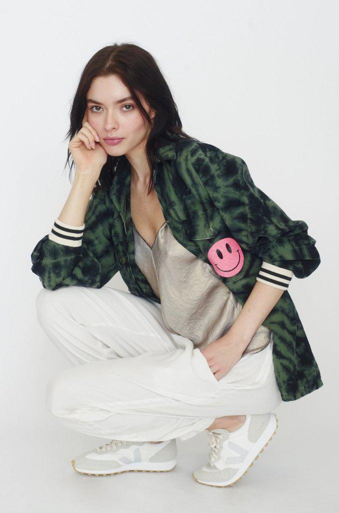 Hot Lips Jacket - Dark Tie Dye