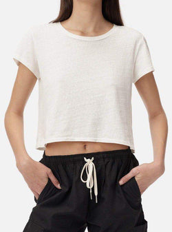 Jersey Cropped T-Shirt - Chalk-John Elliott-Tucci Boutique