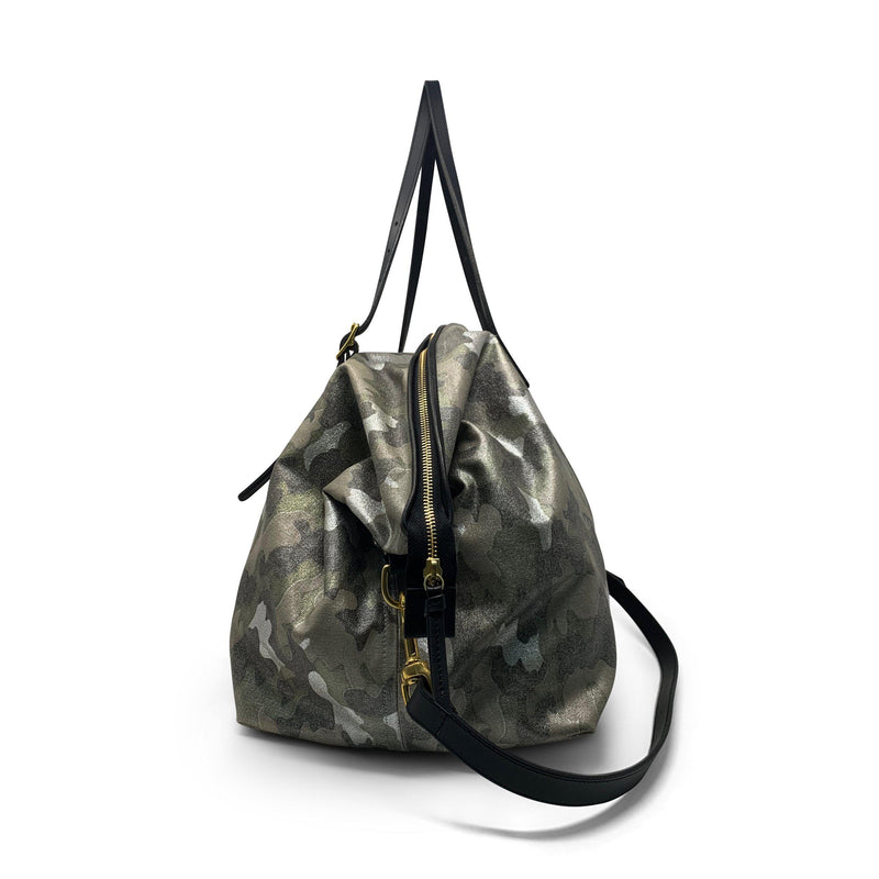 Metallic Camo Large Canvas Crossbody-Kempton & Co-Tucci Boutique