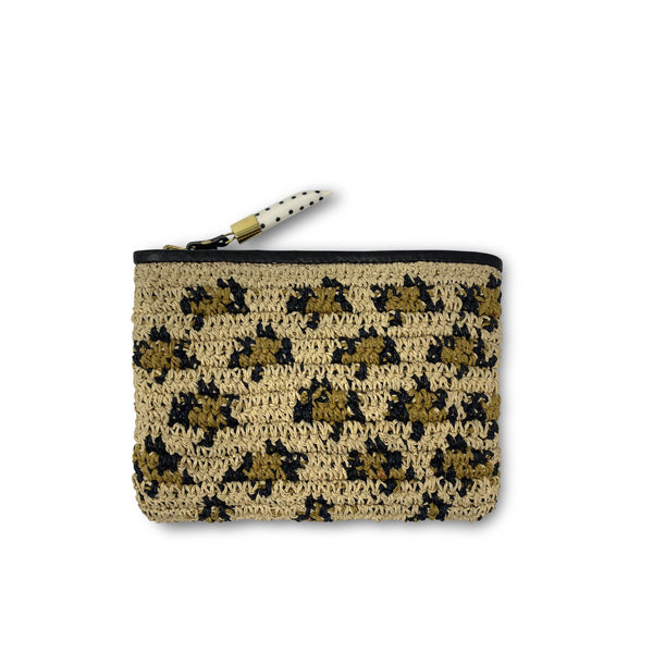 Small Pouch - Leopard Raffia-Kempton & Co-Tucci Boutique