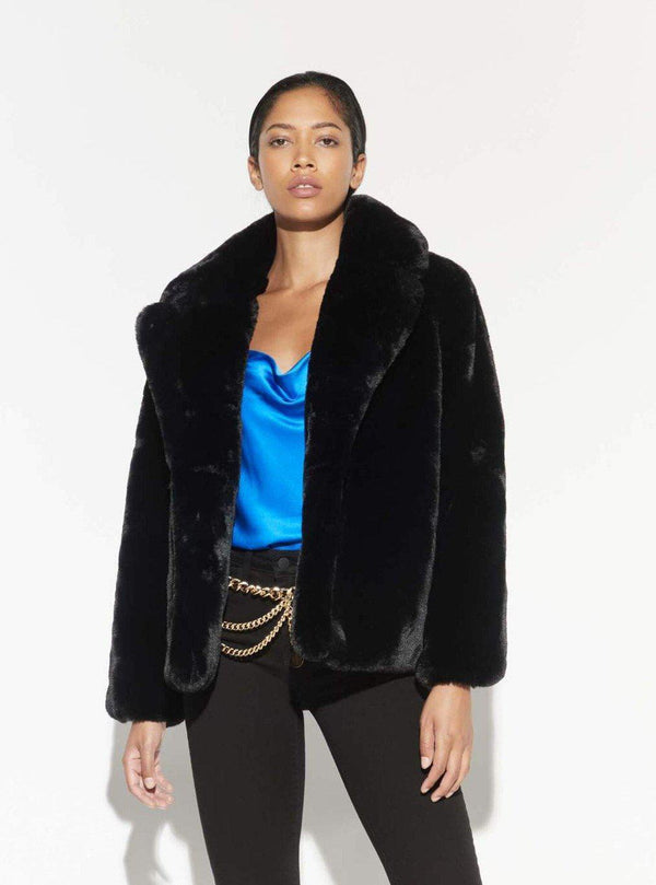 Manon Faux Fur Coat - Noir-Apparis-Tucci Boutique