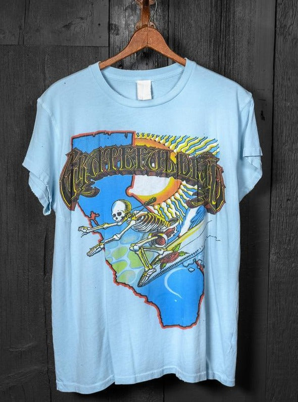 Grateful Dead Surf Skeleton Crew Tee-MadeWorn-Tucci Boutique