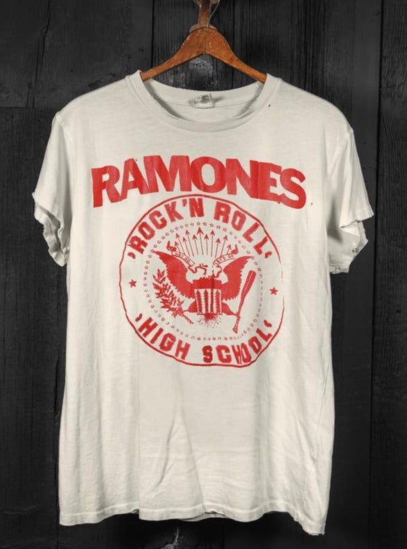 Ramones Rock N Roll High School Crew Tee-MadeWorn-Tucci Boutique
