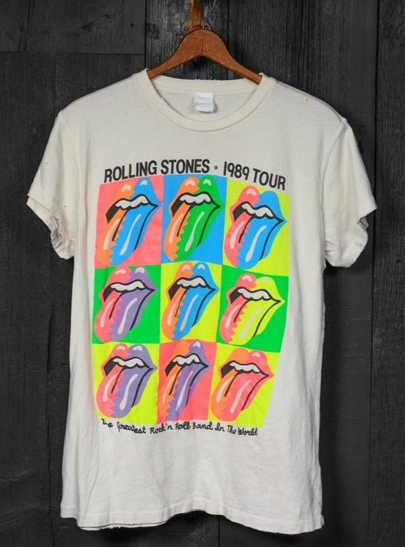 Rolling Stones '89 Tour Crew Tee-MadeWorn-Tucci Boutique