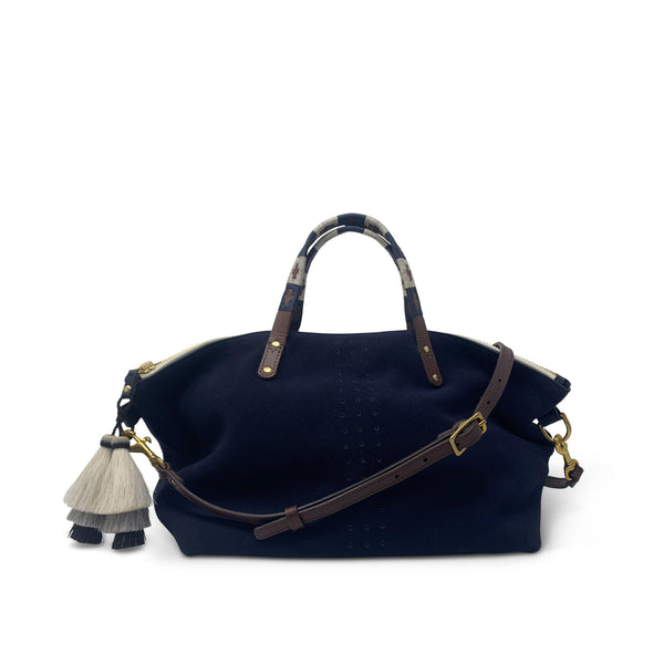 Devon Holdall - Navy Suede-Kempton & Co-Tucci Boutique