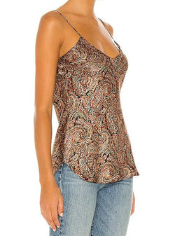 Isabella Camisole - Green Rust Paisley-Nili Lotan-Tucci Boutique