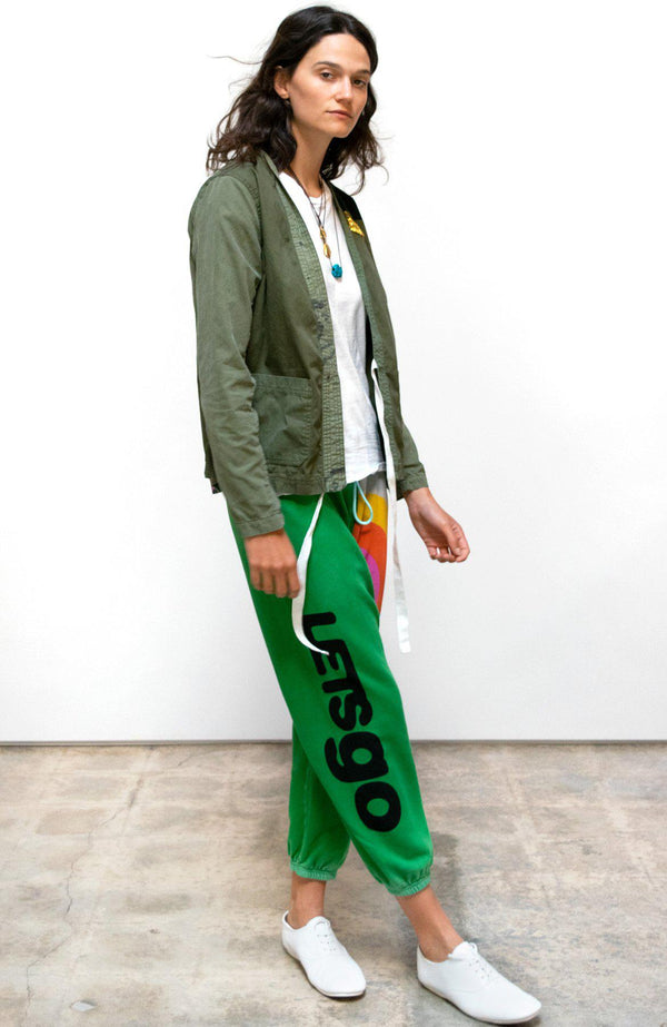 SUPERRAINBOW LETSGO OG SUPERVINTAGE Sweatpants - Schoolgreen-Free City-Tucci Boutique