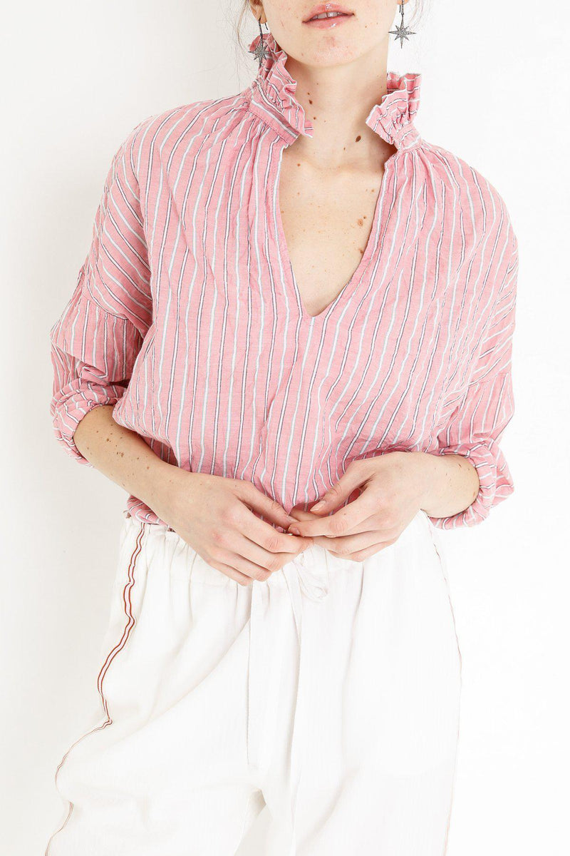 Penelope Striped Shirt - Pink-A Shirt Thing-Tucci Boutique