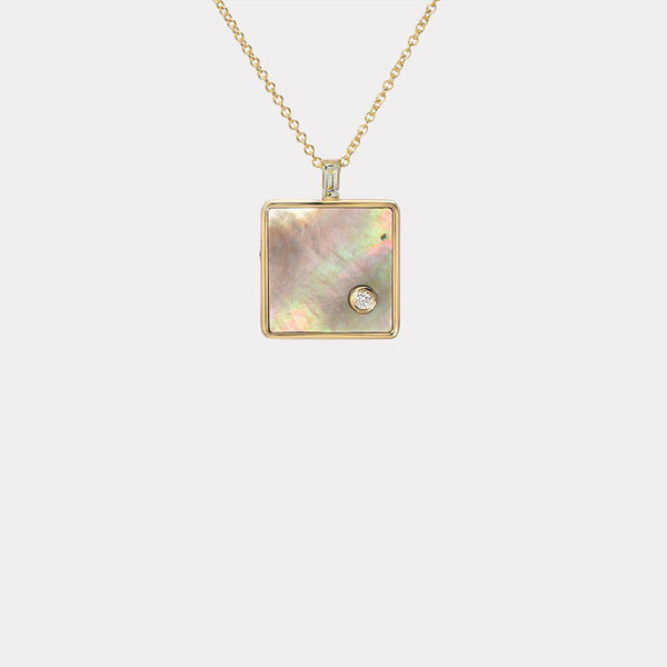 Wisdom Pendant - Mother of Pearl & Mint Garnet-Retrouvai-Tucci Boutique
