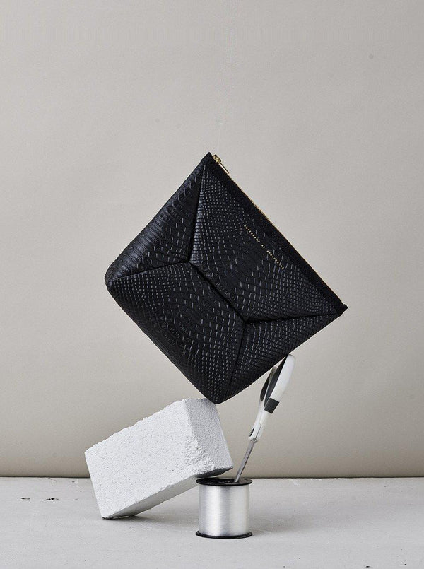 *Pre-Order* X Pouch - Black Python-Ampersand as Apostrophe-Tucci Boutique