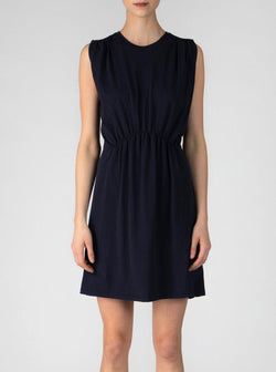 Sleeveless Pima Cotton Dress - Navy-ATM-Tucci Boutique