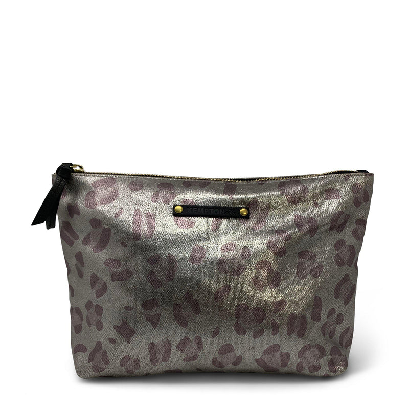 Metallic Leopard Canvas Pouch-Kempton & Co-Tucci Boutique