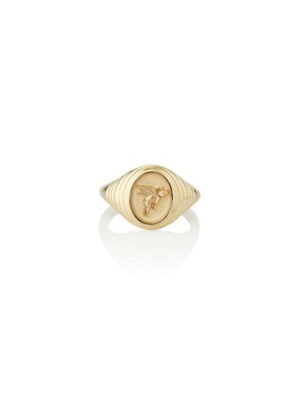Retrouvai Fantasy Signet Pinky Ring - Flying Pig-Tucci Boutique
