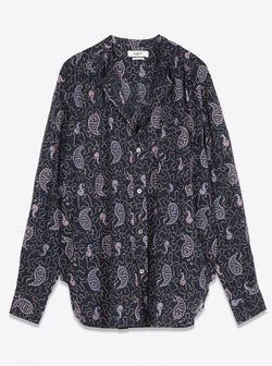 Mexika Shirt - Faded Night-Isabel Marant Étoile-Tucci Boutique