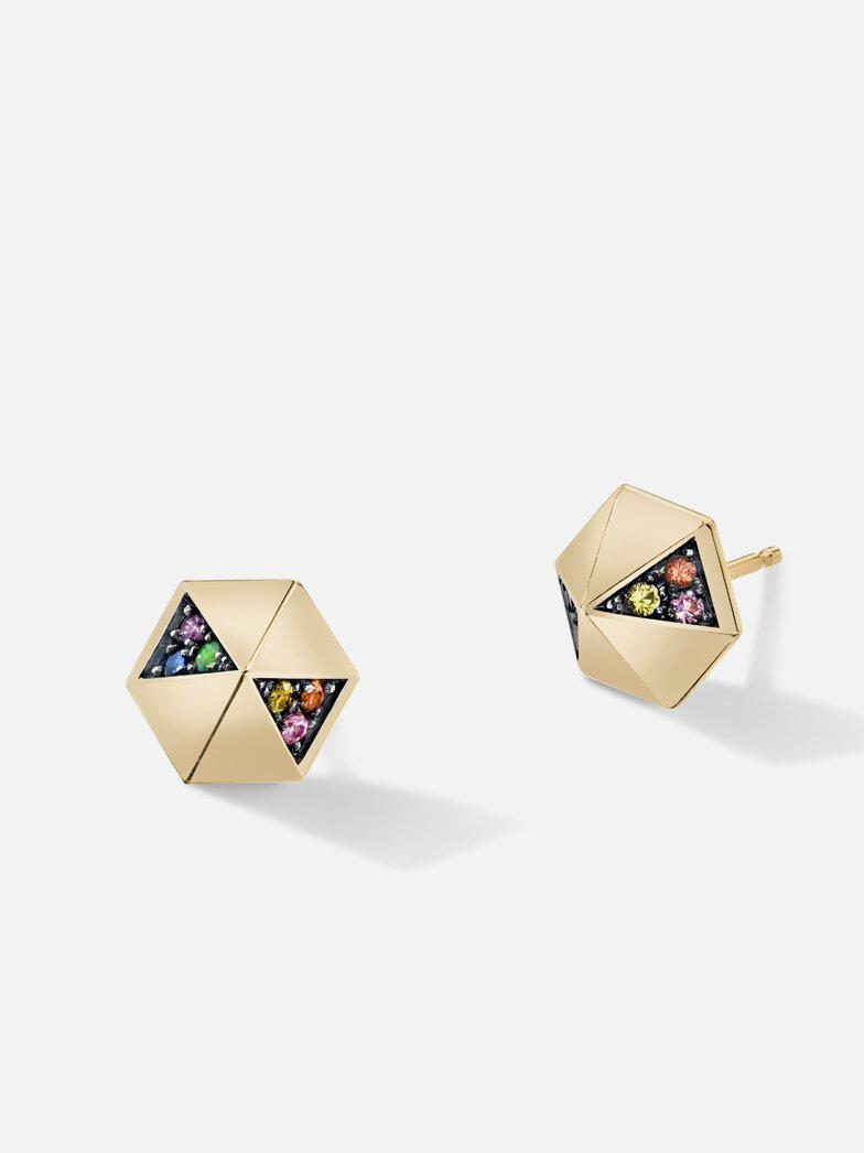 Pyramid Stud Earrings-Harwell Godfrey-Tucci Boutique