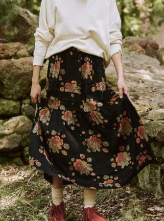 Frontier Skirt - Winter Floral-The Great-Tucci Boutique